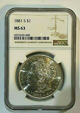 1881-S $1 NGC MS 63 Morgan Silver Dollar  ~~ Excellent Luster ~~ (008)