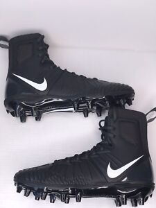 Nike Force Savage Varsity Black White Football Cleats 880140-010 Mens Size 9.5