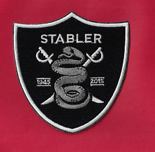 "New Oakland Raiders Ken Stabler 'The Snake' 3 1/2 X 4"" Iron on Patch Free Ship"