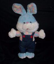 "16"" 1989 VNTAGE ACME BABY BLUE BUNNY RABBIT PLAID SHIRT STUFFED ANIMAL PLUSH TOY"