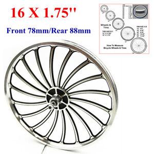 "16"" Alloy Bicycle Front/Rear Wheel For 16x1.75"" 78mm/88mm Bike Chopper W/Thread"
