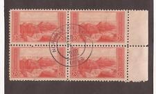 Sc# 741 block of 4 2c Grand Canyon used 2002 postmark
