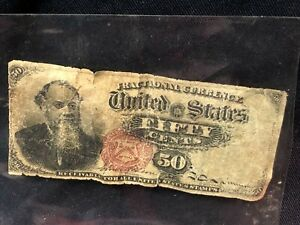United States 50 cents Fractional Currency Note Estate Discovery You grade!!