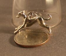 Greyhound/Sighthound 4 gram Sterling Silver Charm/ Pendant