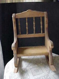 "Small Rocking Chair Decorative Plant Stand or Doll Chair 14-1/2"" Tall 11"" Long"