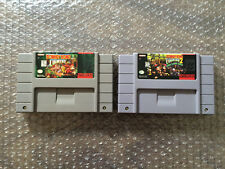 Donkey Kong Country 1+ 2 (Super Nintendo, SNES LOT) Carts Only - Authentic