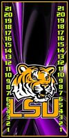 LSU Tigers 062 custom cornhole scoreboard score keeper w/ clips Made in the USA