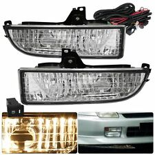 97-01 Honda Prelude Clear Lens Bumper Fog Lights Driving Lamps Replacement Kit