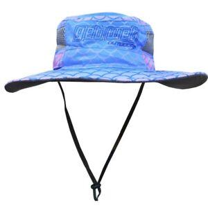 UPF50+ Fishing Hat Bucket Style Blue Pink