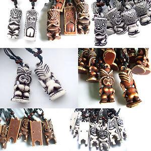 Hawaiian Tribal Tiki Pendant Necklace