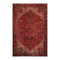 """10'2"""" x 13'8"""" Hand Knotted 100% Wool Herizz Traditional Oriental Area Rug Rust"""