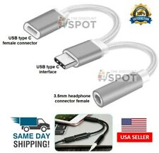 2 in1 Type-C USB C to 3.5mm AUX Audio Headphone Jack Adapter Charger Cable New S