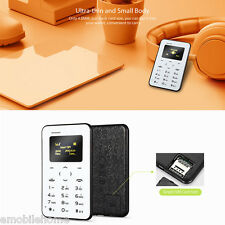 """AIEK Q2 0.96"""" 4.8mm Mini Téléphone portable débloqué 2G Bluetooth NOIR"""