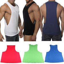Sleeveless Sports Men Tank Top Fitness Loose Vest Shirts Workout Training Tops