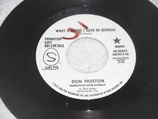 DON PRESTON~What a Friend I Have In Georgia/Same 1974 SHELTER PROMO BLUES 45