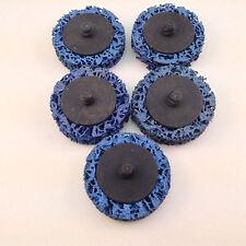 """Roloc style Paint Stripper """"T"""" & """"R"""" Type 2"""" discs 5pc set Blue"""