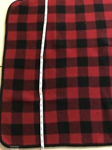 PENDLETON Flannel Plaid Blanket One Sided Red Black Vintage