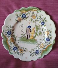 "COLLECTIONNEUR ASSIETTE EN FAIENCE ""ANE A LA HARPE"" ORIGINE  ?? A DETERMINER"