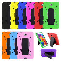 Hybrid Armor Hard Case Cover Skin Stand For Samsung Galaxy Tab E 2 3 4 7.0 Lite