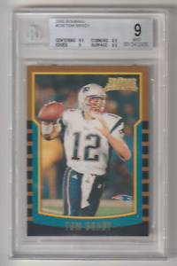 🏈🔥TOM BRADY 2000 BOWMAN FOOTBALL #236 ROOKIE RC BGS 9 DUAL 9.5 SUBS!🔥🏈 BUCS