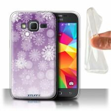 Étuis, housses et coques violets Samsung en silicone, caoutchouc, gel pour téléphone mobile et assistant personnel (PDA)