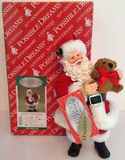 "Rare Possible Dreams Clothtique 2010 ""Bear-y Christmas"" Santa New #40016728D"