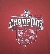 Boston Red Sox 2013 American League Champions Team Roster XL Red TShirt Majestic