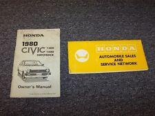 1980 Honda Civic Hatchback Owner Owner's Manual User Guide Book Set 1300 1500