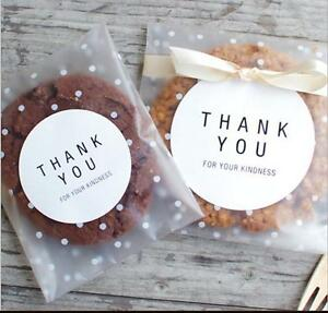 White Spots Cello Cellophane Wedding Party Favour Sweet Macarons Gift Craft Bags
