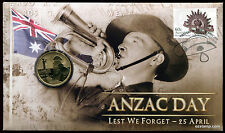 2012 ANZAC Day Lest We Forget PNC Coin Stamp Australia