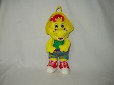 "BJ the YELLOW DINOSAUR Barney's friend 12"" Playskool Water Pal bath figure toy"