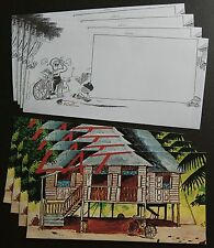 2008 Malaysia LAT Cartoons, Blank FDC (Lot of 4 covers)