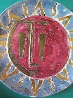 piatto scultura ceramica PULLI Claudio anni 70 vintage collezione