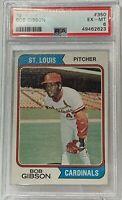 1974 Topps 350 Bob Gibson PSA Ex-Mt 6 St. Louis Cardinals