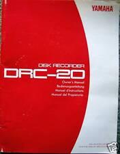 Yamaha Drc-20 Midi Disk Recorder Original Owner's Users Operating Manual Book