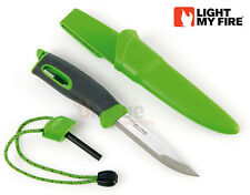 Light My Fire Swedish Fire Knife Camping Fireknife Fire Steel Combo - Green