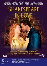 Shakespeare In Love (DVD) Ben Affleck / Colin  Firth - Region 4 - Good Condition