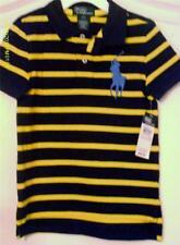 Polo Ralph Lauren NWT Blue Short Sleeve Big Pony Striped Polo Shirt Boys Size 3T