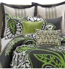 KAS TJANDRA 2PC MINI SET, 1 TWIN COMFORTER, 1 STANDARD SHAMS GRAY GREEN