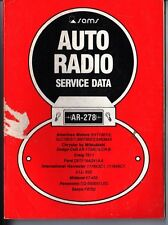 Sams Photofact-Auto Radio Manual/#AR-278/First Edition-First Print/1979