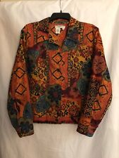 Coldwater Creek Women's PXL Colorful Beaded Jacket EC