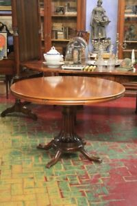 Extendable Table, Wood Walnut, Period First Half ' Of '900 / Table Nut