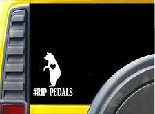 "RIP Pedals the Bear sticker J943 black bear 6"" decal"