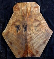 Gorgeous 5A curly spalted ambrosia flame maple guitar top blank tonewood #35