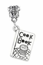 Cookbook Chef Recipe Book Cooking Kitchen Cook Charm for European Slide Bracelet
