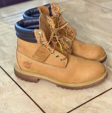 Timberland Premium 6 Inch Waterproof Wheat Leather Lace Up Mens Boots 73540 8.5