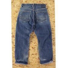 "32"" Rare Evis Circa Stitch Indigo Selvedge Jeans, 90s Yamane Deluxe Evisu"