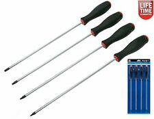 4 PC LONG REACH TORX SCREWDRIVER SET T15 TO T30 250MM LONG  BLADE MAGNETIC TIP