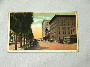Vintage 1917 Tampa Florida Street Scene YMCA & Citizens Bank Postcard