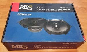 MB Quart 5x7 6x8 Speakers Brand New - Fits Ford Falcon BA BF AU Mazda 3 323